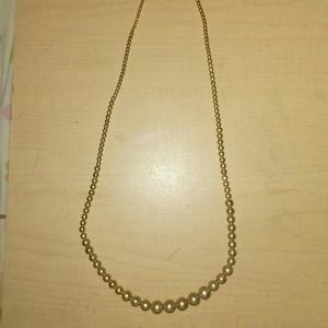 Nice gold pearl long fashion necklace